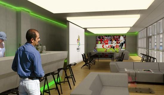 VIP_wnętrza loży vip na stadionie w Poznaniu
